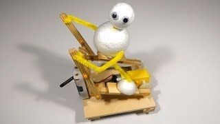 How To Make TINY Wooden Gym Elliptical Machine That Works