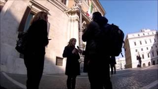 GIORGIA MELONI - PIAZZA MONTECITORIO - INTERVISTA