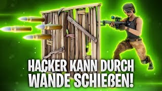HACKERS CAN SHOOT THROUGH WALLS! 💀 | Fortnite: Battle Royale