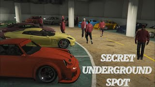 GTA 5 Secret underground spot car meet  Cinematic Film, Rockstar Editor)