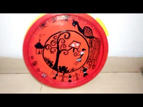 Warli art Painting ,wall hanging  wall decor   warli painting detail tutorial Avni creation