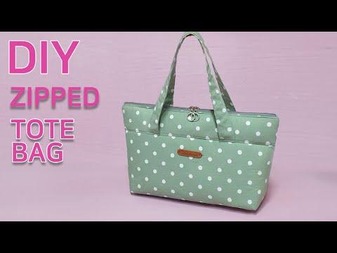DIY Small zipped tote bag/Zipper Pouch Tutorial/작은 토트백 만들기/지퍼 파우치 만들기[jsdaily]
