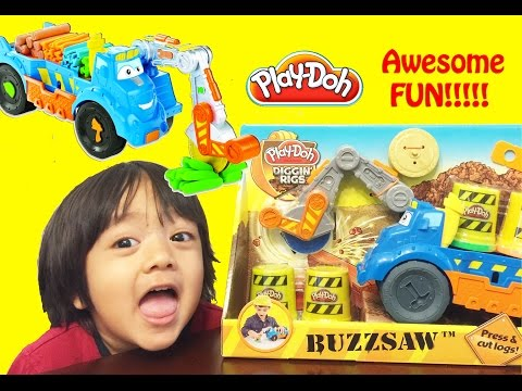 Thumbnail: Play Doh Buzzsaw All Woodcutter Diggin' Rigs playset Playdough review unbox