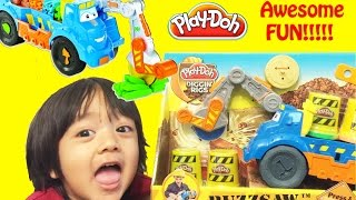Ryan Plays with Play Doh Buzzsaw All Woodcutter Diggin