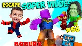 Roblox - Escape dos Super Vilées (Escape Super Villanos) Juegos de familia
