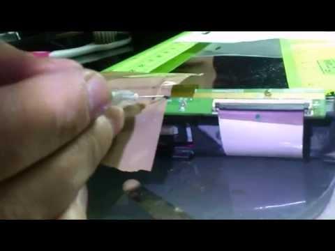 Ремонт телевизора Philips, отслоение матрицы. Восстановление контакта или замена пикселя)))
