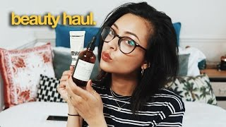 HUGE BEAUTY & SKINCARE HAUL | AESOP, THE ORDINARY, ARMANI & MORE | itslinamar