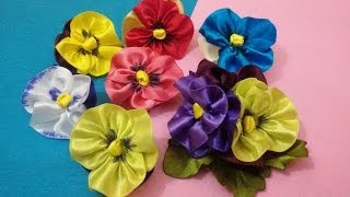 D.I.Y. Satin Pansy Flower Tutorial | MyInDulzens