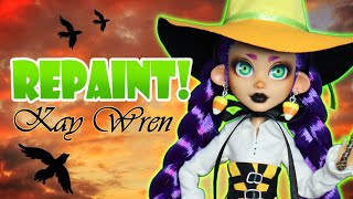 Repaint! Kay Wren the Witch in Training ☆ Halloween Collaboration 2021