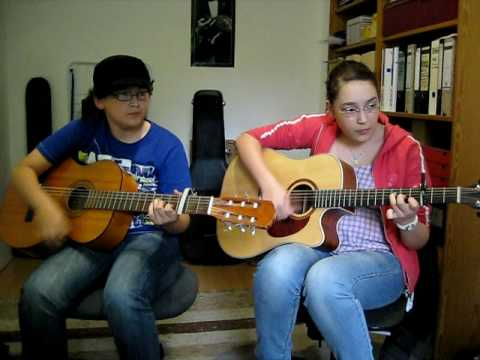 Owl City Fireflies Guitar Chords By Alicia And Robin Youtube