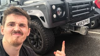 Crazy Driver Smashed into my Defender!