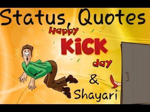kick day status shayari quotes kick day whatsapp status