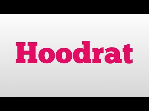 Hoodrat meaning and pronunciation