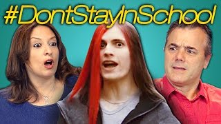 PARENTS REACT TO DON'T STAY IN SCHOOL