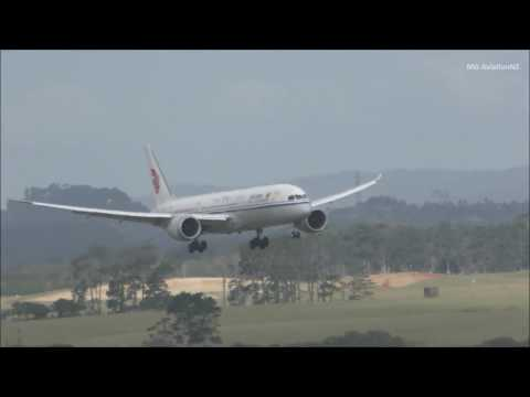 Air China Boeing 787-9 Dreamliner Landing Auckland Airport