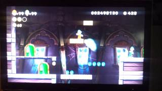 New Super Mario Bros. U Frosted Glacier Swaying Ghost house
