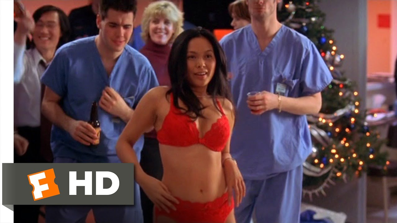 White Coats (8/9) Movie CLIP - Christmas Party Gone Wild (2004) HD