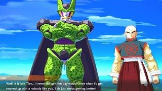 Dragon Ball FighterZ - Cell Calls Tien a Nobody & Roasts Him