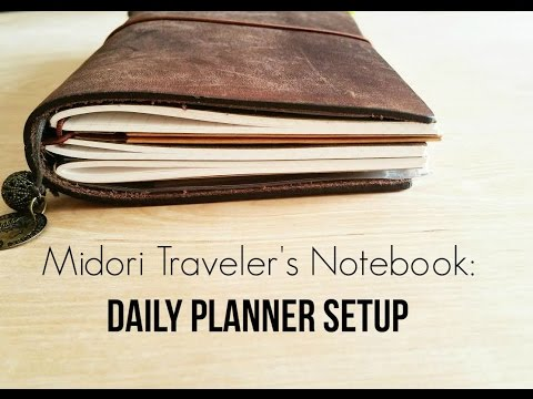 Using the Midori Traveler's Notebook as a Daily Planner