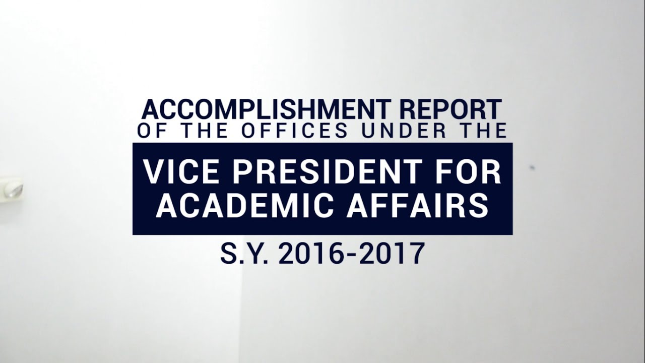 Vpaa Offices Accomplishment Report 2017