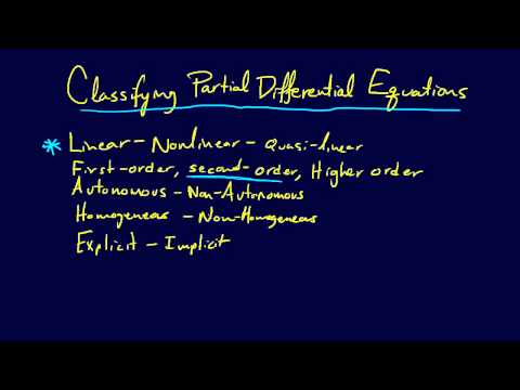 8.1.2-PDEs: Classification of Partial Differential Equations