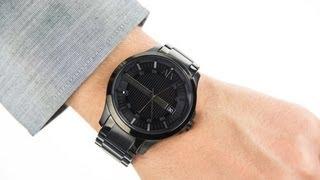 armani exchange gents smart black steel bracelet watch ax2104