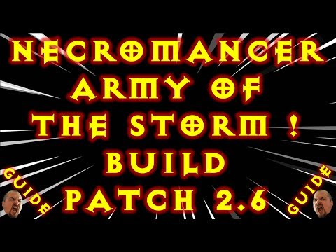 Diablo 3 Necromancer Army of The Storm Build! Gr Solo Patch 2.6