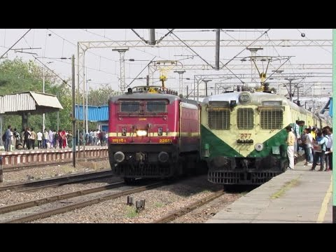 15484 Sikkim Mahananda Express overtaking Aligarh EMU !!