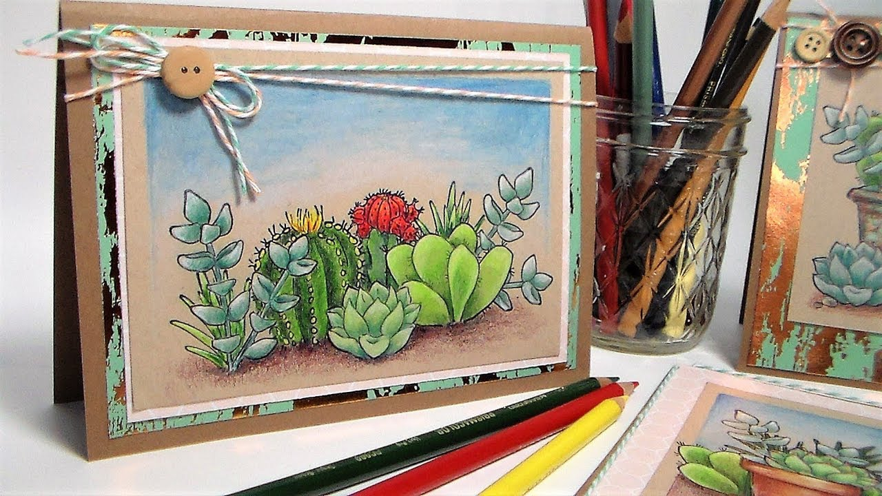 Succulent Scenes! {Colored Pencil Tutorial & New Line of Stamps by ...