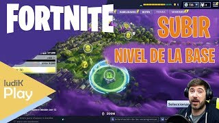 HOW TO RAISE THE BASE LEVEL? FORTNITE SAVE THE WORLD Spanish guide