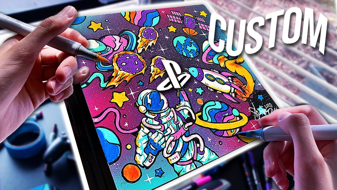 EPIC CUSTOM SPACE PS4 !!  (Satisfying)
