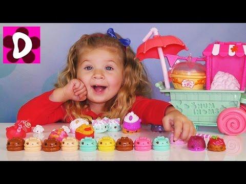 Очередь за Попкорном Num Noms ИГРАЕМ В МАГАЗИН Видео для Детей Игрушки Num Nom и Игры для Девочек
