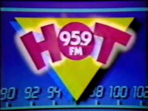 Hot 95.9 (FM radio station WGHT, Baltimore) ad from 1988