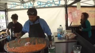 "Pav Bhaji Freshly Prepared At ""horn Ok Please"" Indian Street Food Stall At Alchemy Festival, London"