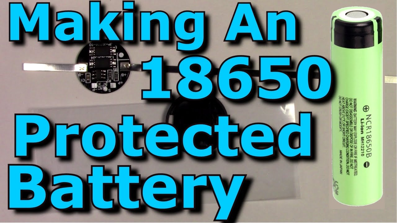 adding a protection circuit to an 18650 cell battery making an 18650 protected cell battery thorough [ 1280 x 720 Pixel ]