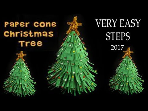 Christmas Tree || Paper Cone Christmas Tree || Easy Steps || 2017 ||