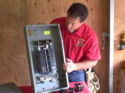 hqdefault replacing breakers in electrical panel youtube how to change fuse in breaker box at bayanpartner.co