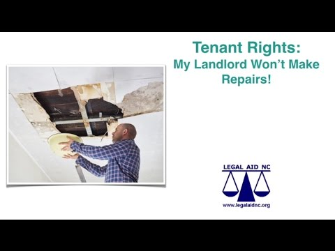 Tenant Rights - My Landlord Won't Make Repairs