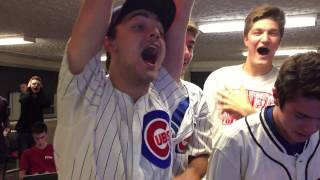 World Series last 3 outs of Cubs win fan BEST reaction!