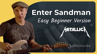 Enter Sandman Guitar Lesson | Metallica | Easy Riff