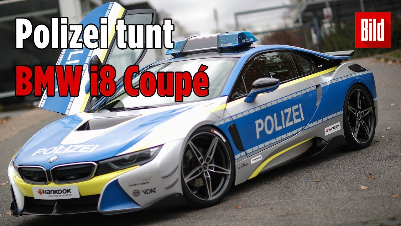 bmw polizei auto mit e antrieb hat 374 ps youtube. Black Bedroom Furniture Sets. Home Design Ideas