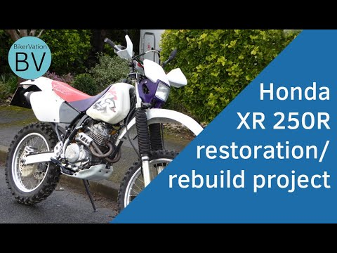 1996 Honda XR250R Restoration Project