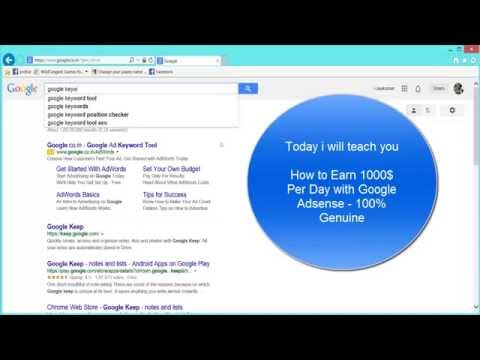 How to Earn 1000$ Per Day with Google Adsense 100% Genuine