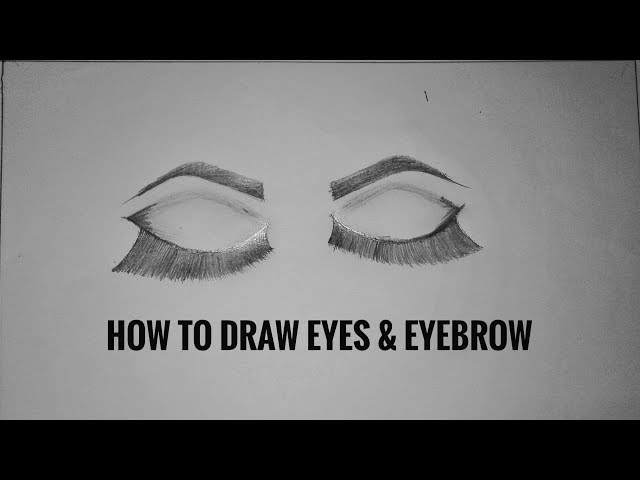 How to draw Eye & Eyebrow step by step very easy vid-4