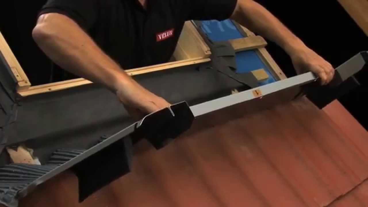 How to install a Velux roof window in a tiled roof at ...