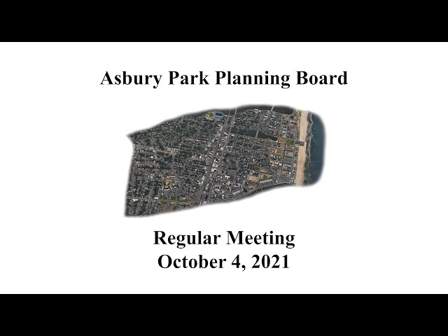 Asbury Park Planning Board Meeting - October 4, 2021