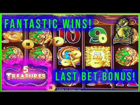 5 treasure slot machine free play