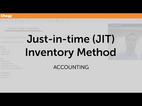 Just-in-time (JIT) Inventory Method | Accounting | Chegg Tutors