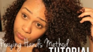 Praying Hands Tutorial for Smooth Curls with Less Frizz