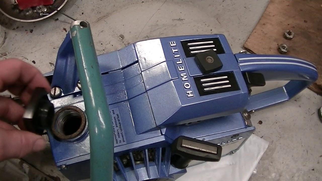 Homelite XL-101 Chainsaw Runs & Looks Great C131
